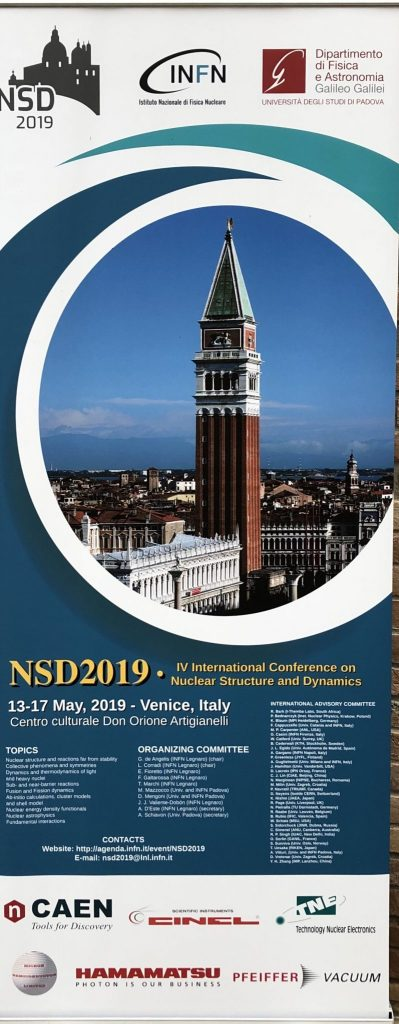 IV NSD – INTERNATIONAL CONFERENCE ON NUCLEAR AND DYNAMICS 13-17 MAGGIO 2019